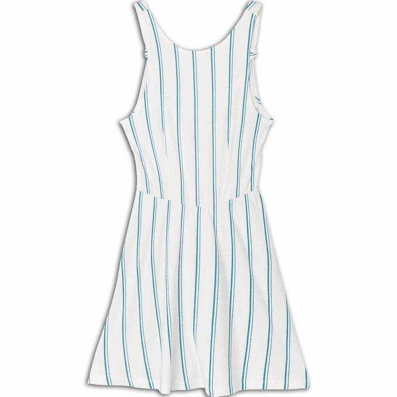 RVCA RVCA Peony Striped White Dress