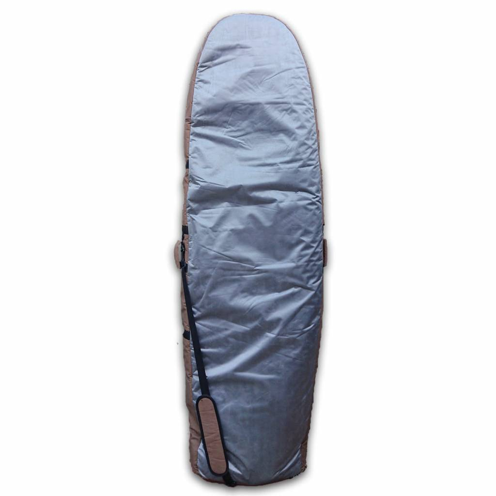 Wavetribe Wavetribe 6'7 hybrid hemp double travel boardbag brown