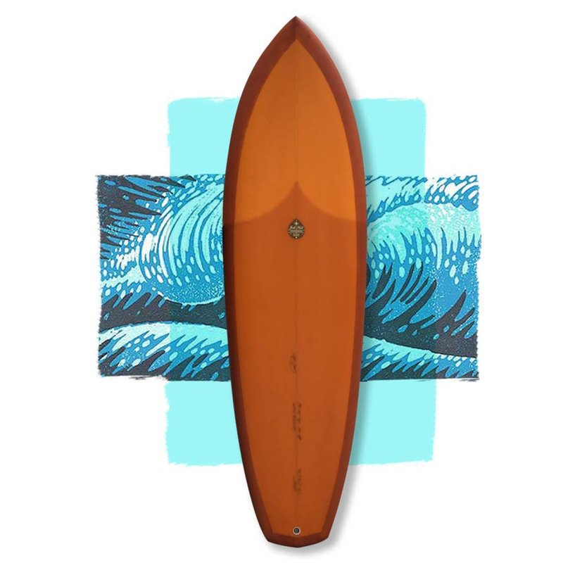 Josh Hall diamond twin 5'10 orange // SOLD