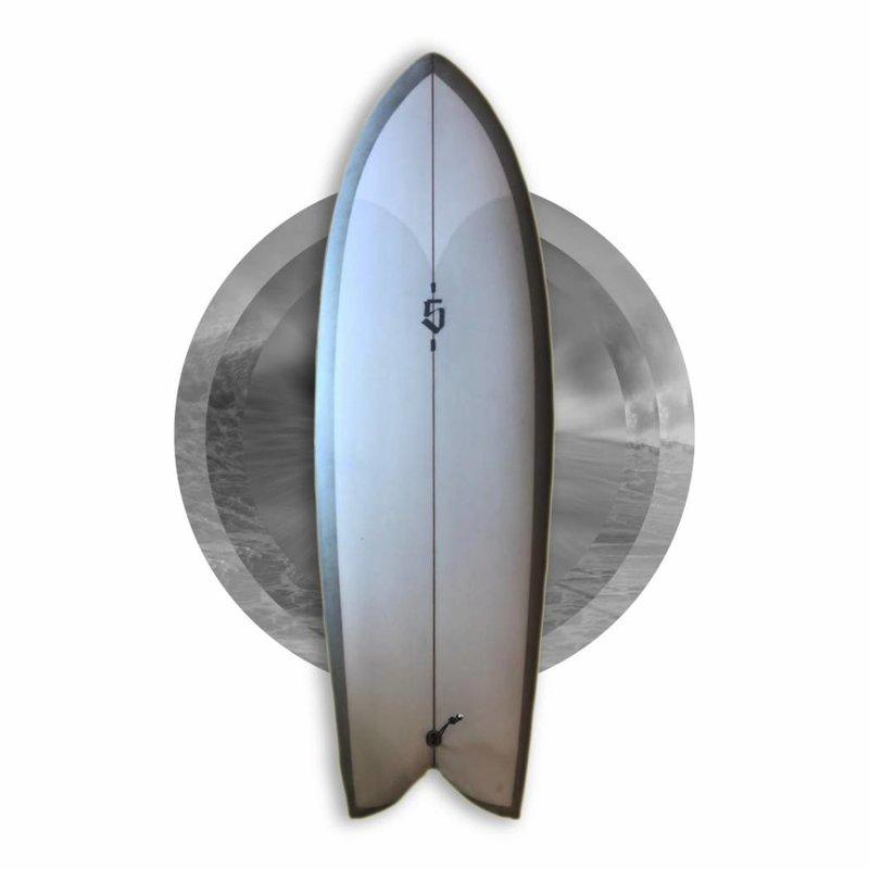 SPOE SURFBOARDS FISH 5'10 GREY // SOLD, SORRY