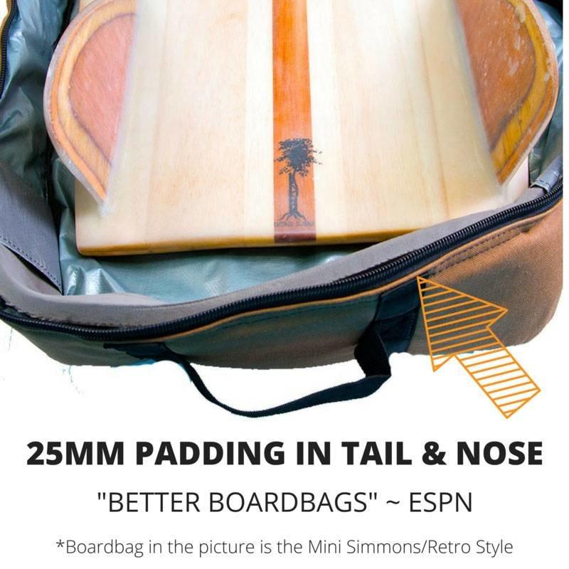 Wavetribe Wavetribe 6'2 minisimmons hemp travel double boardbag brown