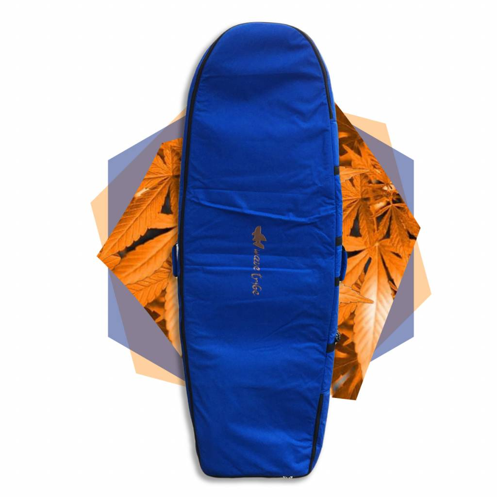 Wavetribe Wavetribe 6'2 minisimmons hemp travel double boardbag blue