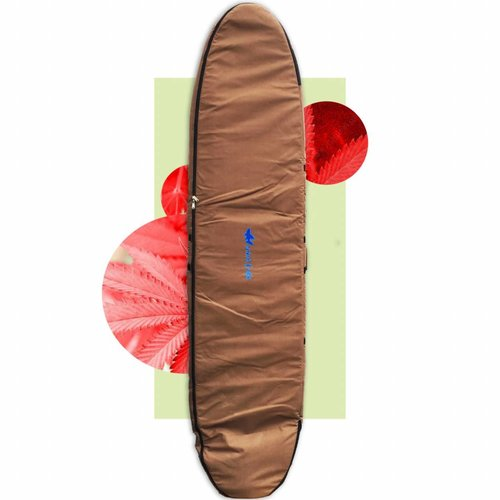 Wavetribe 9'6 hemp double longboard travel boardbag