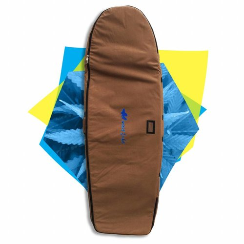 Wavetribe Wavetribe 6'2 minisimmons hemp travel double boardbag brown