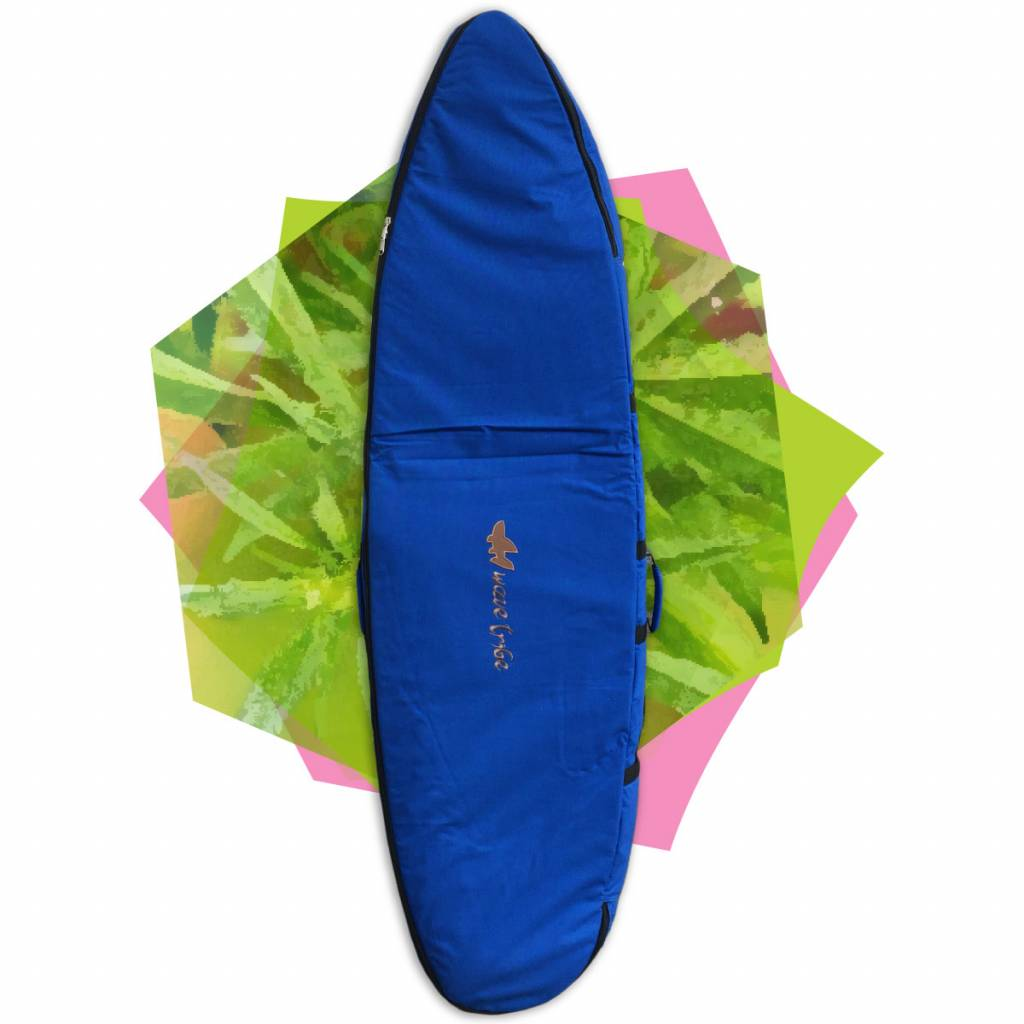 Wavetribe Wavetribe 6'7 shortboard hemp travel double boardbag blue