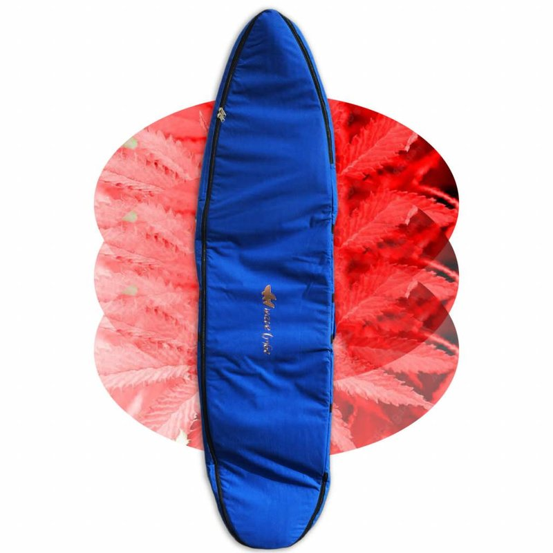 Wavetribe Wavetribe 7'6 hemp travel double boardbag blue