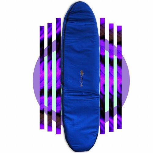 Wavetribe 8'6 hemp travel malibu double boardbag blue