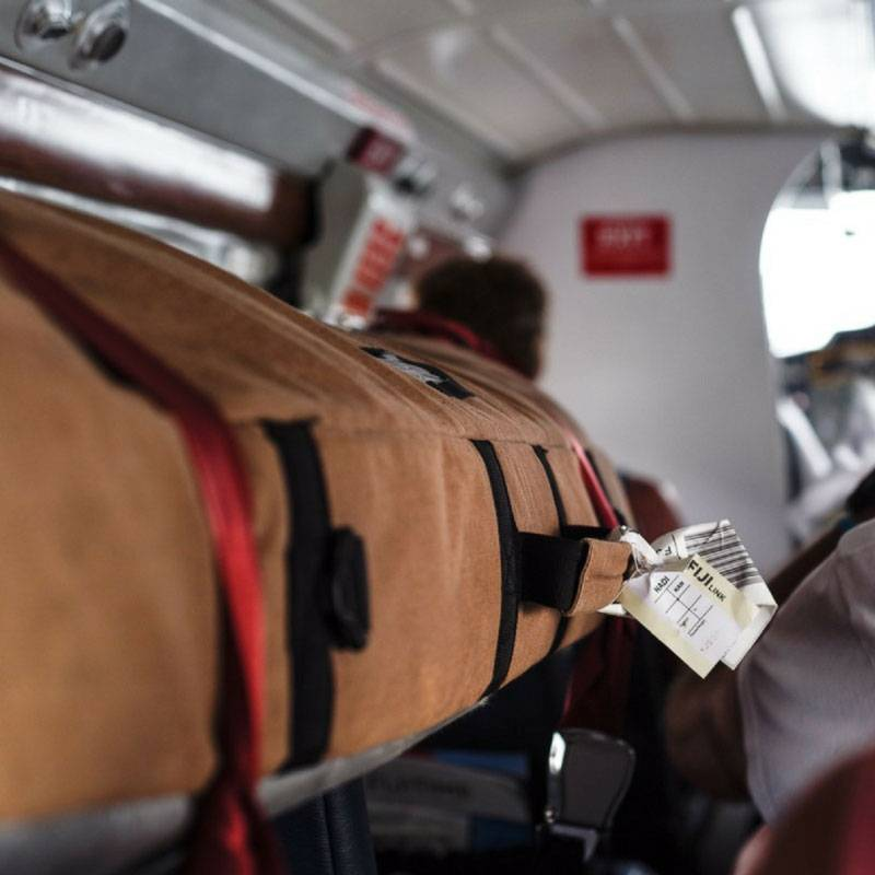 Wavetribe Wavetribe 8'6 hemp travel malibu double boardbag blue