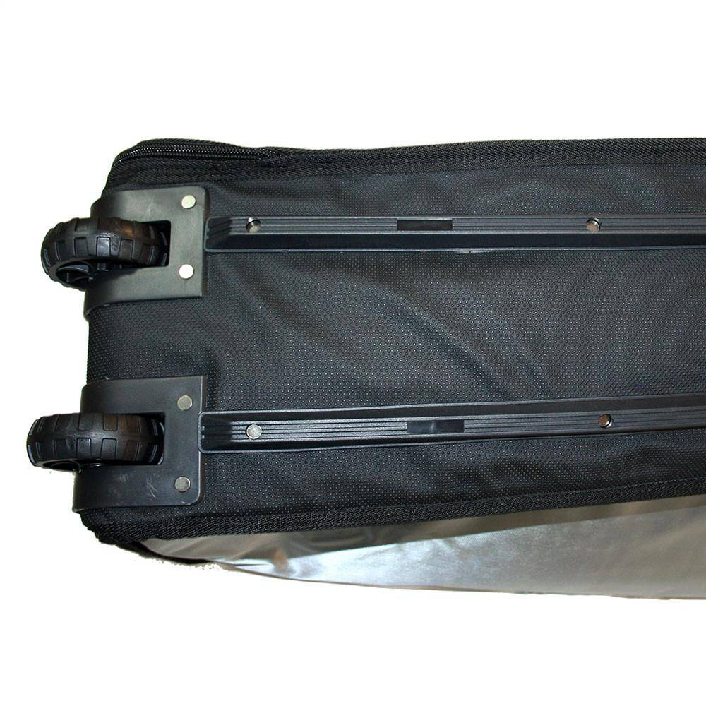 Wavetribe 9'6 wheeled hemp triple longboard travel boardbag blue
