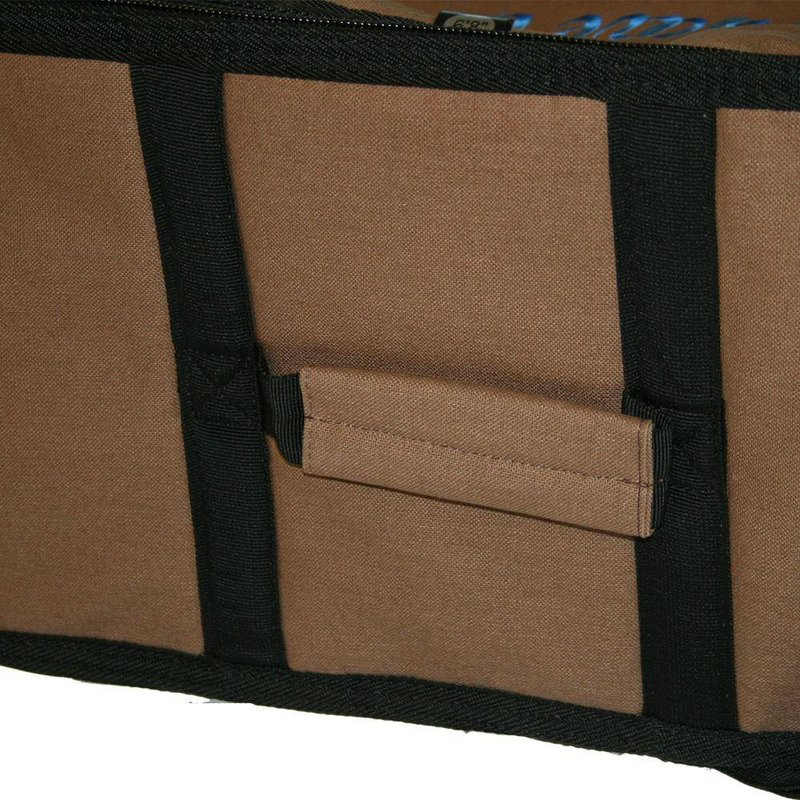 Wavetribe Wavetribe 8'6 wheeled hemp triple longboard travel boardbag brown