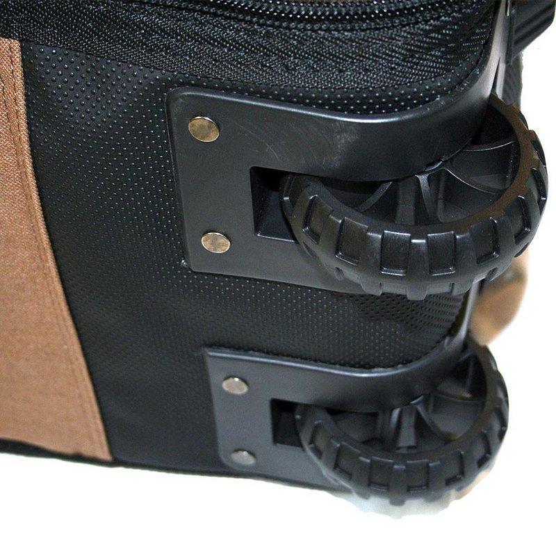 Wavetribe Wavetribe 8'6 wheeled hemp triple longboard travel boardbag blue