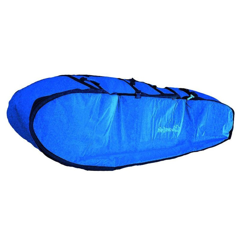 Wavetribe Wavetribe 6'8 wheeled hemp triple travel boardbag blue
