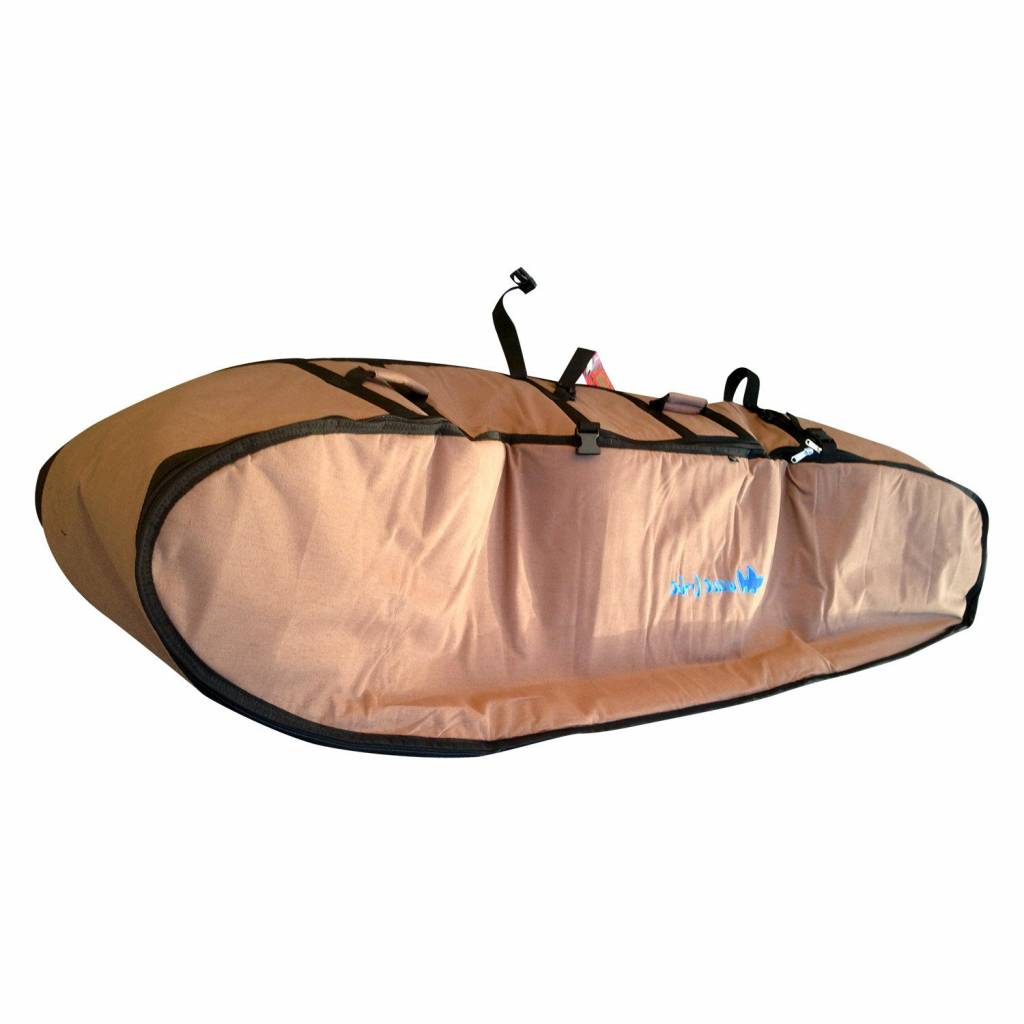 Wavetribe Wavetribe 6'8 wheeled hemp triple travel boardbag brown