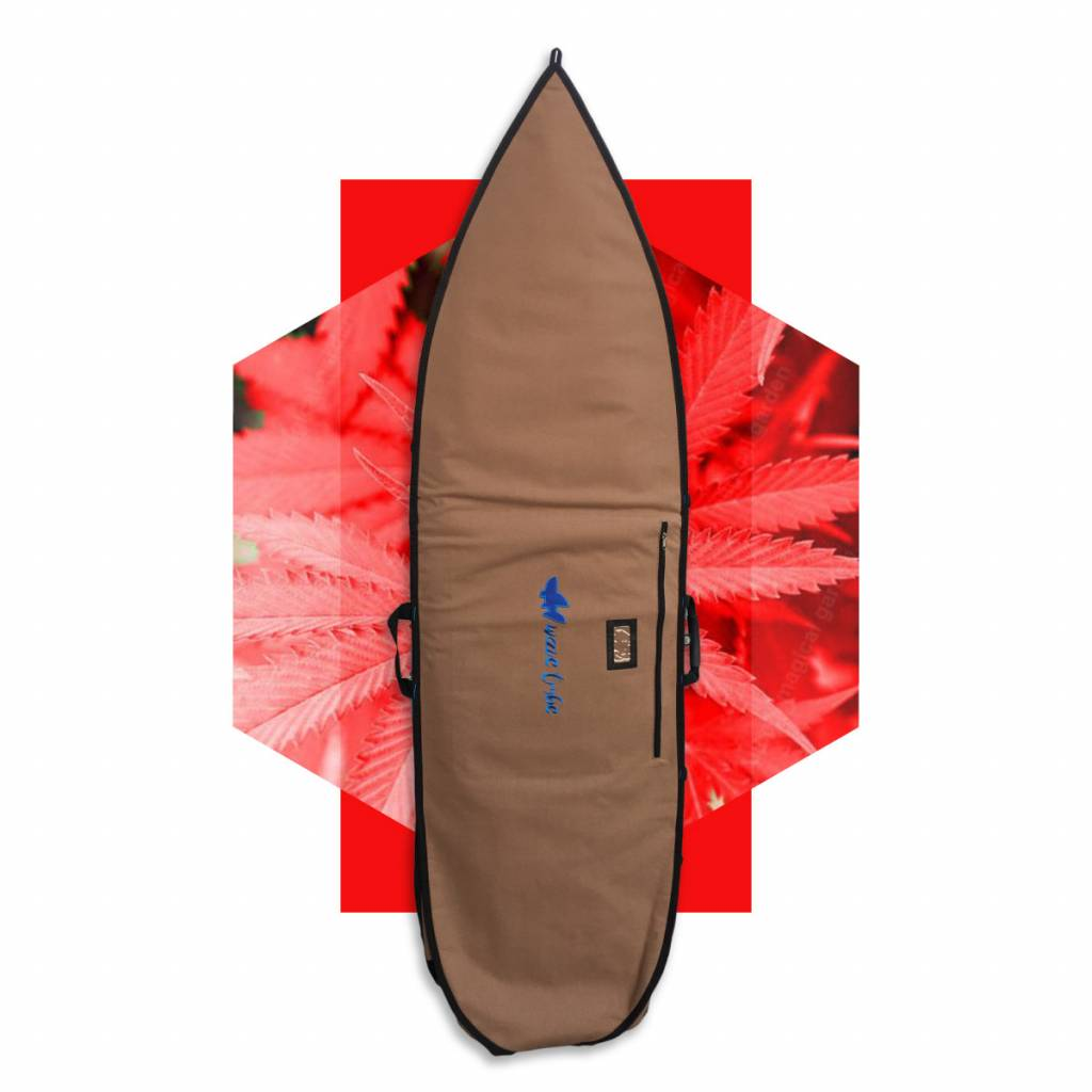 Wavetribe Wavetribe 6'6 shortboard hemp daybag single boardbag brown