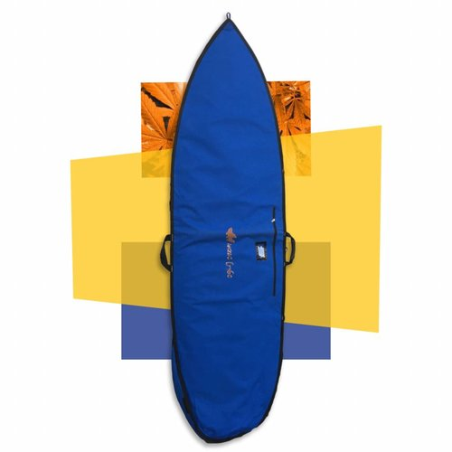 Wavetribe Wavetribe 7'6 shortboard hemp daybag single boardbag blue