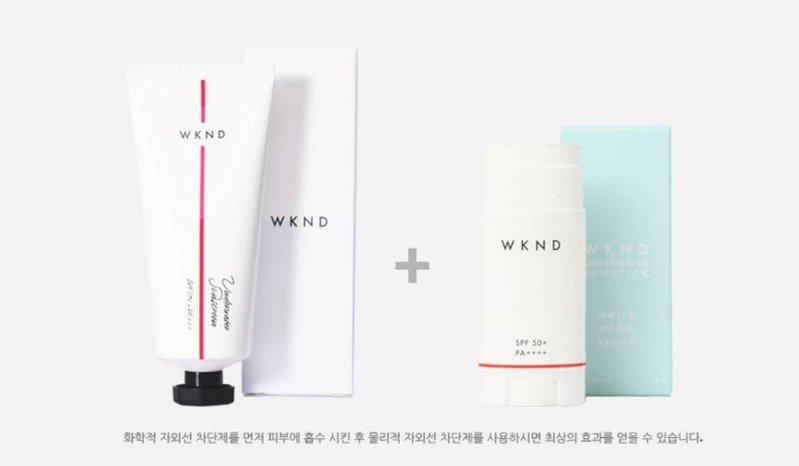 WKND underwater sunscreen WKND underwater sunstick SPF50+ tan