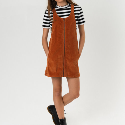 Afends Afends Jordan Pinafore Dress Spice