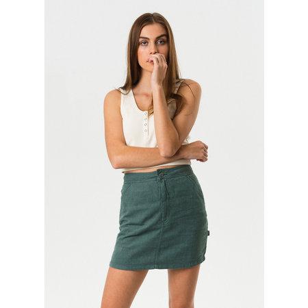 Afends Afends Reena Hemp Skirt Silver Pine