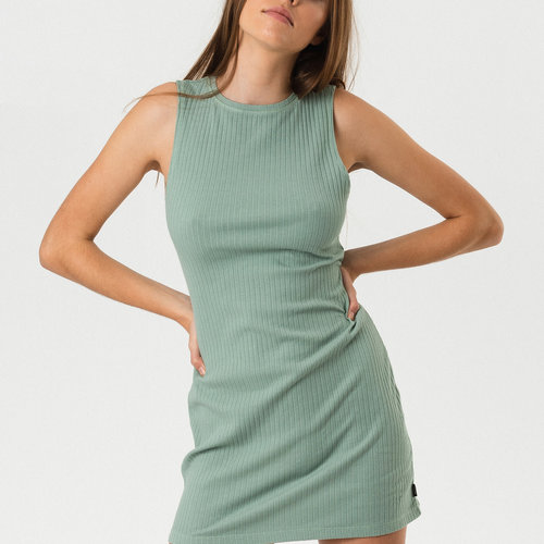 Afends Daisy Close Fit Jersey Dress Dew