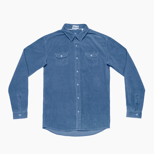 The Critical Slide Society TCSS Lazy Bones Cord Shirt Cobalt