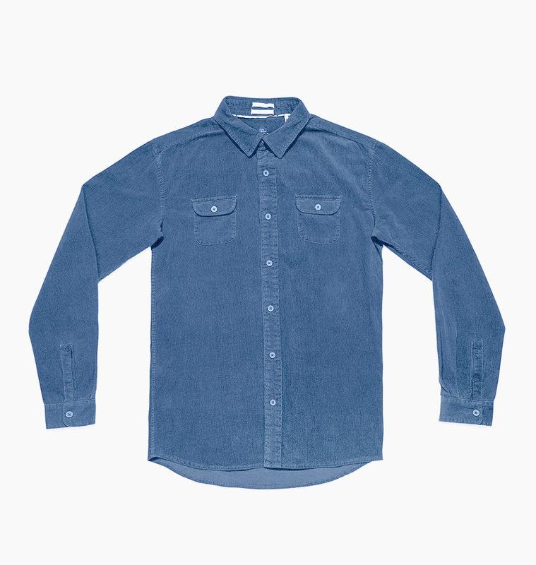 The Critical Slide Society TCSS Lazy Bones Cord Shirt Cobalt