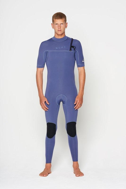 NCHE 2/2 Mens Short Sleeve Full Suit Wetsuit Grisaille
