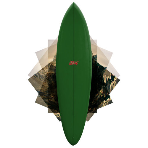 Troy Elmore Raven 6'8 Single Fin Green // SOLD