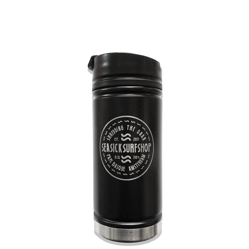 Sea Sick Surf Sea Sick Surf Lasered Etched Coffee Bottle Black