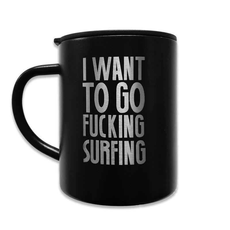 Sea Sick Surf Sea Sick Surf Steel Coffee Mug Laser Etched Black