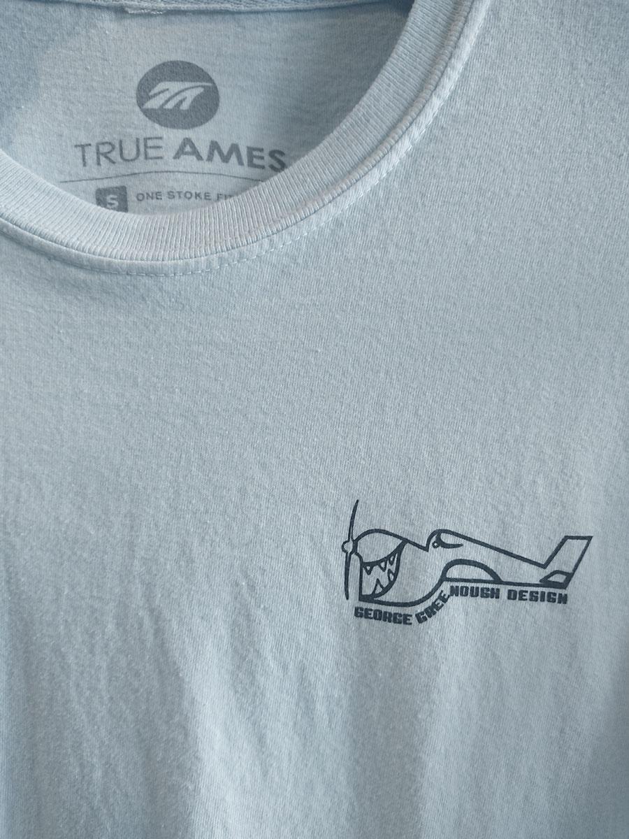 True Ames Greenough Airplane Tee Sky Blue