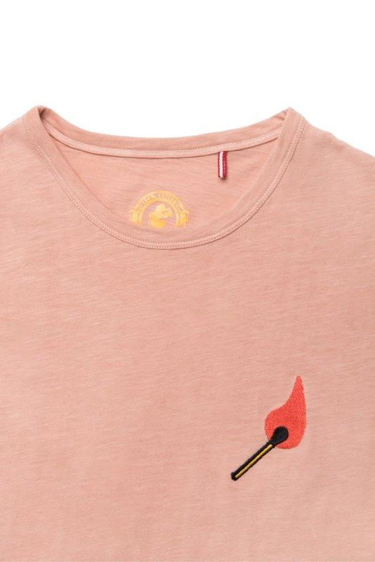 Mami Wata Surf Mami Wata Surf Ladies Embroided Fire Tee Peach