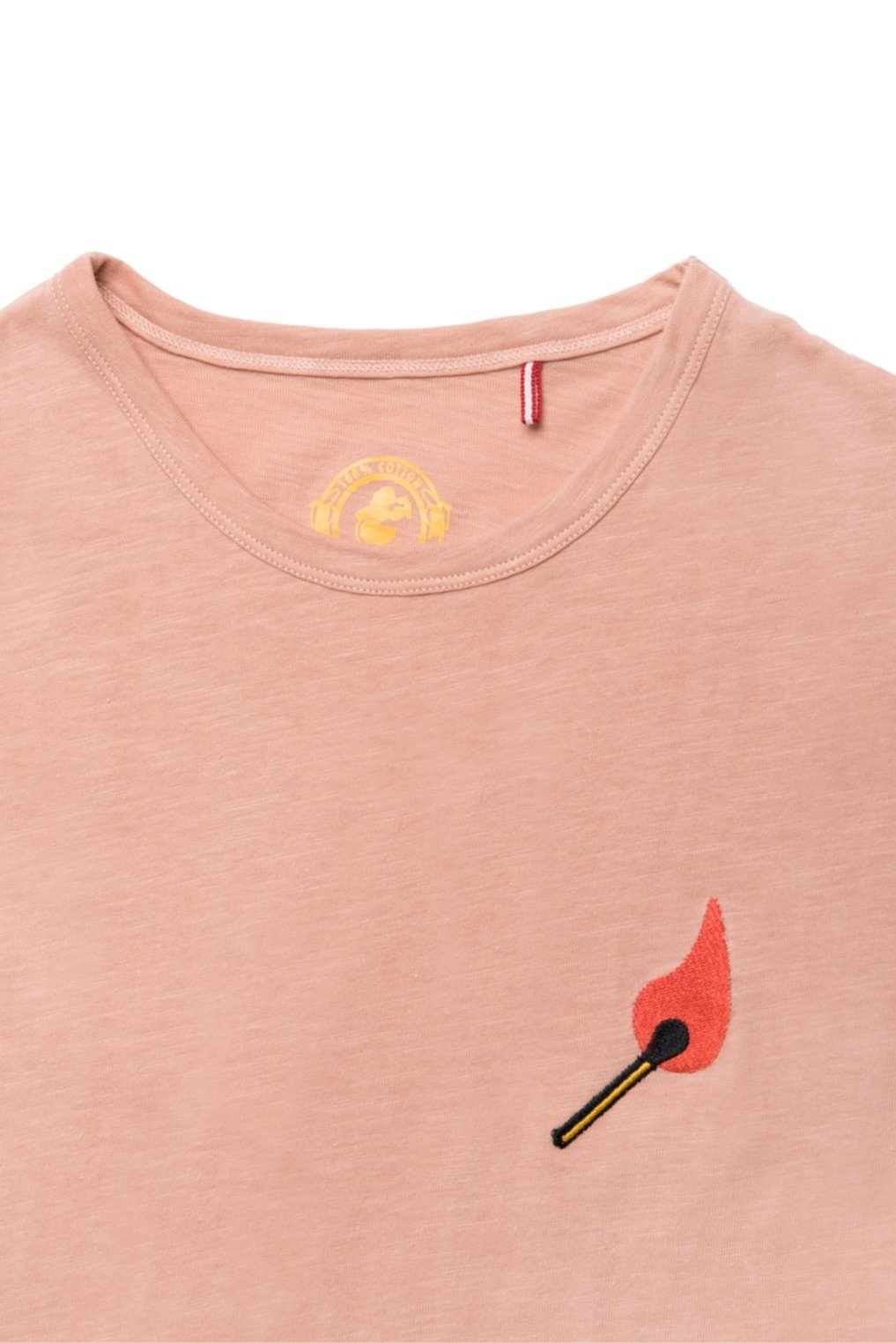 Mami Wata Surf Mami Wata Surf Ladies Embroided Fire Tee Peach