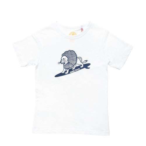 Mami Wata Surf Mami Wata Surf Ladies Surfing Lion Tee White