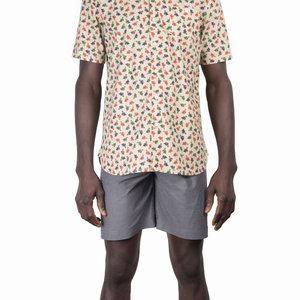 Mami Wata Surf Mami Wata Surf Men's Bananas Shirt Ecru with Multi Print