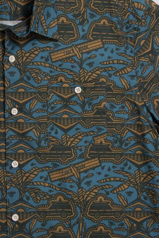 Mami Wata Surf Mami Wata Surf Men's I am the Ruler Shirt Blue Yellow Green