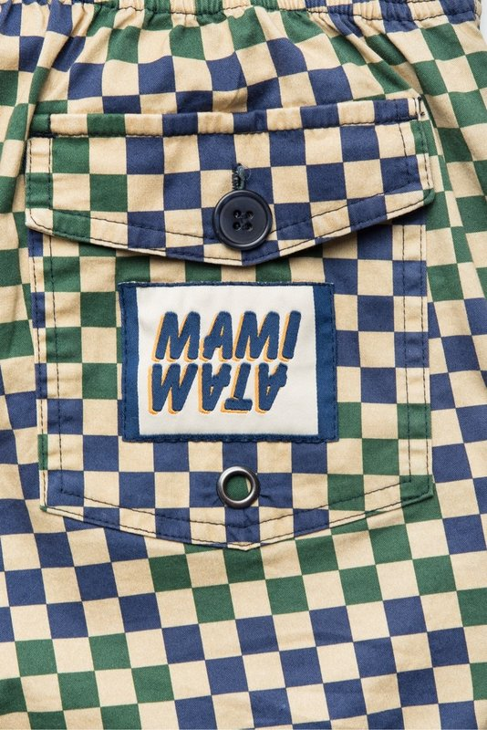 Mami Wata Surf Mami Wata Surf Men's Ouakam Surf Trunks Green Blue Ecru