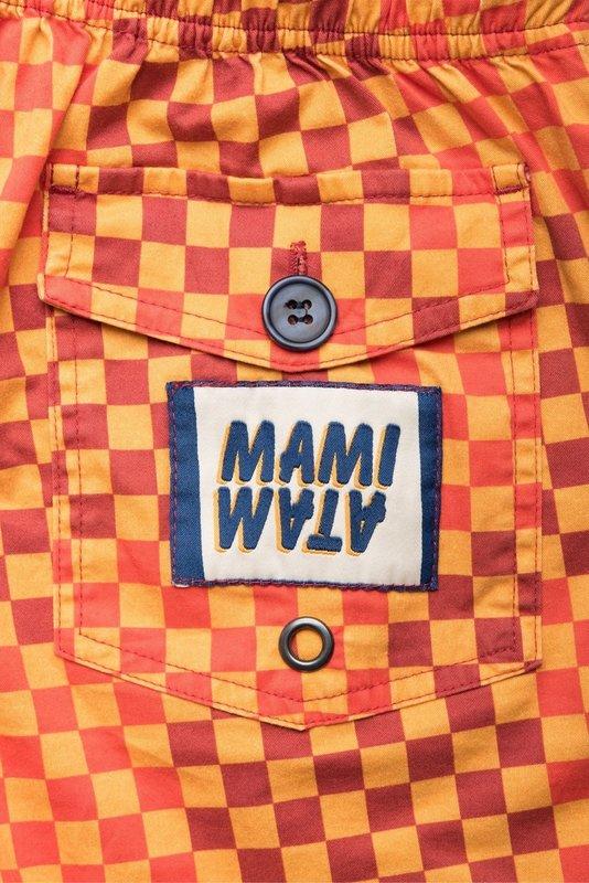 Mami Wata Surf Mami Wata Surf Men's Ouakam Surf Trunks Red Yellow