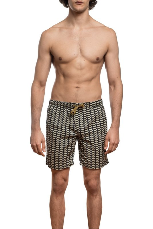 Mami Wata Surf Mami Wata Surf Men's Tofo Surf Trunks Ecru Black