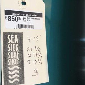 Sea Sick Surf Sea Sick Surf Classic Egg 7'5 // SOLD