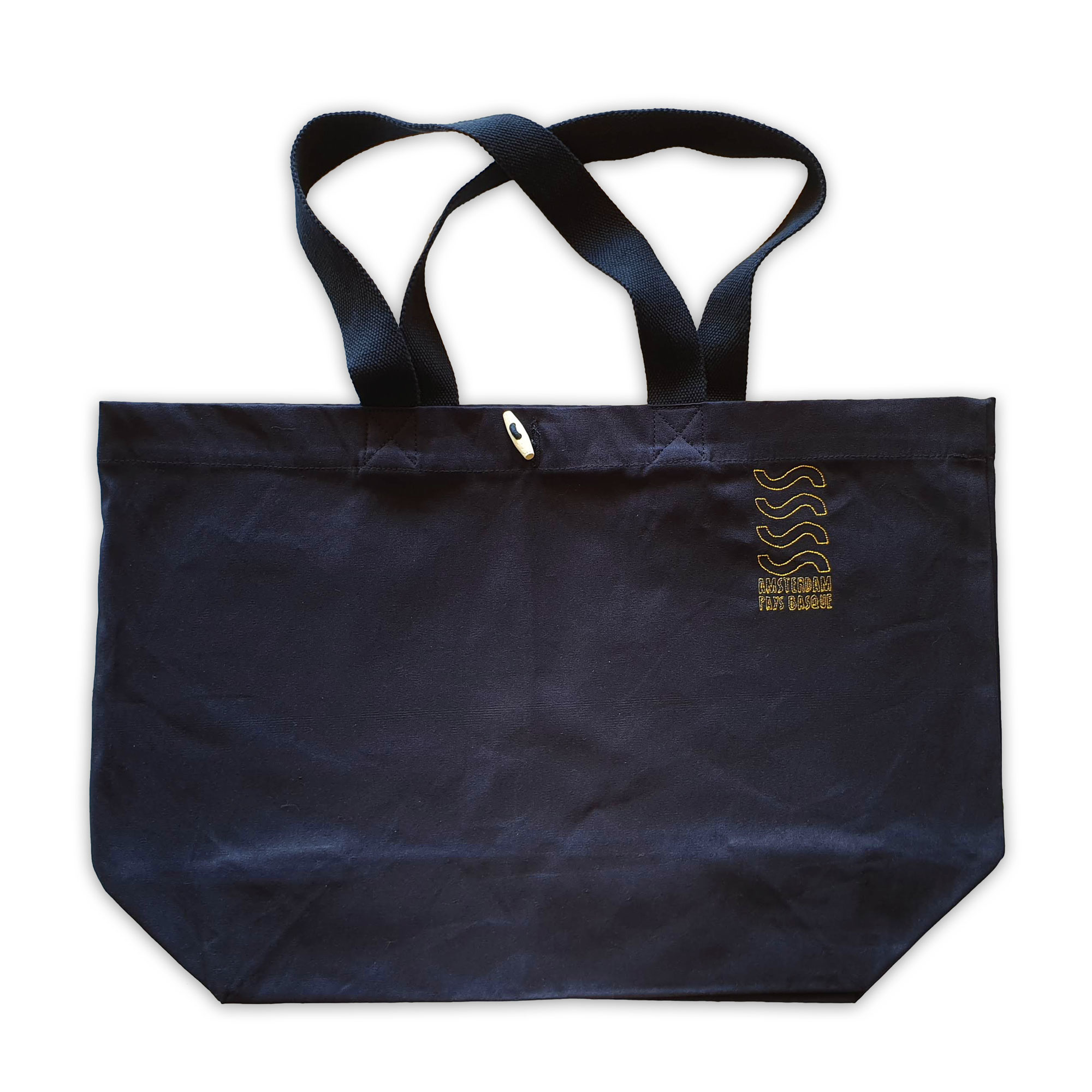 Sea Sick Surf Sea Sick Surf Organic Beach Bag Navy Embroidered