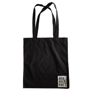 Sea Sick Surf Sea Sick Surf Shop Organic Tote Black Gothic Logo