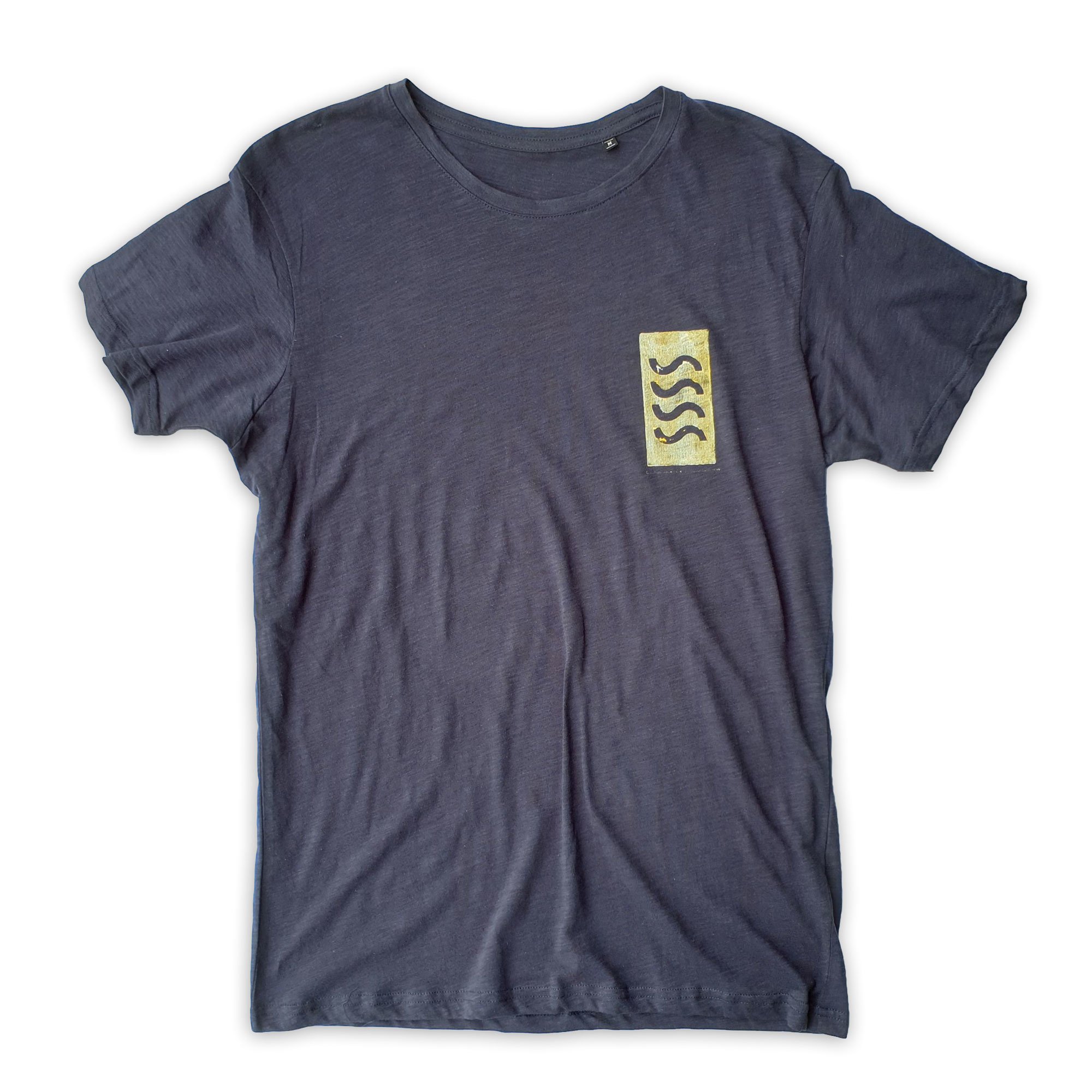 Sea Sick Surf Sea Sick Surf Men´s Organic Tee Navy Dirty Gold Logo