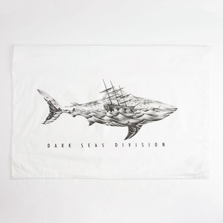 Dark Seas chronicle pillow case white