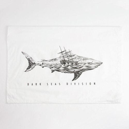 Dark Seas chronicle pillow case white