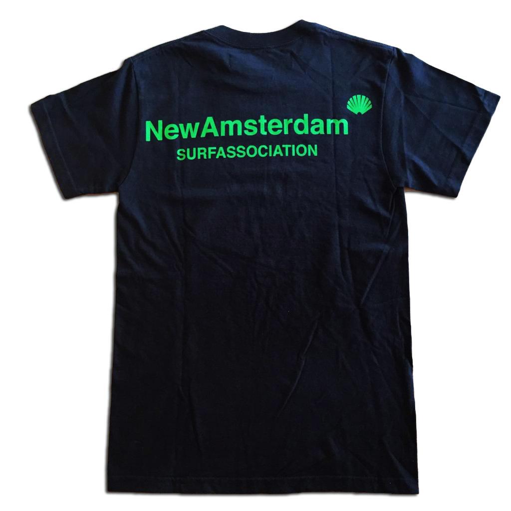 New Amsterdam Surf Association New Amsterdam SHELL GREEN Tee Black