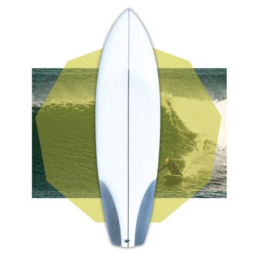 Luc Rolland 6'8 flextail kneeboard