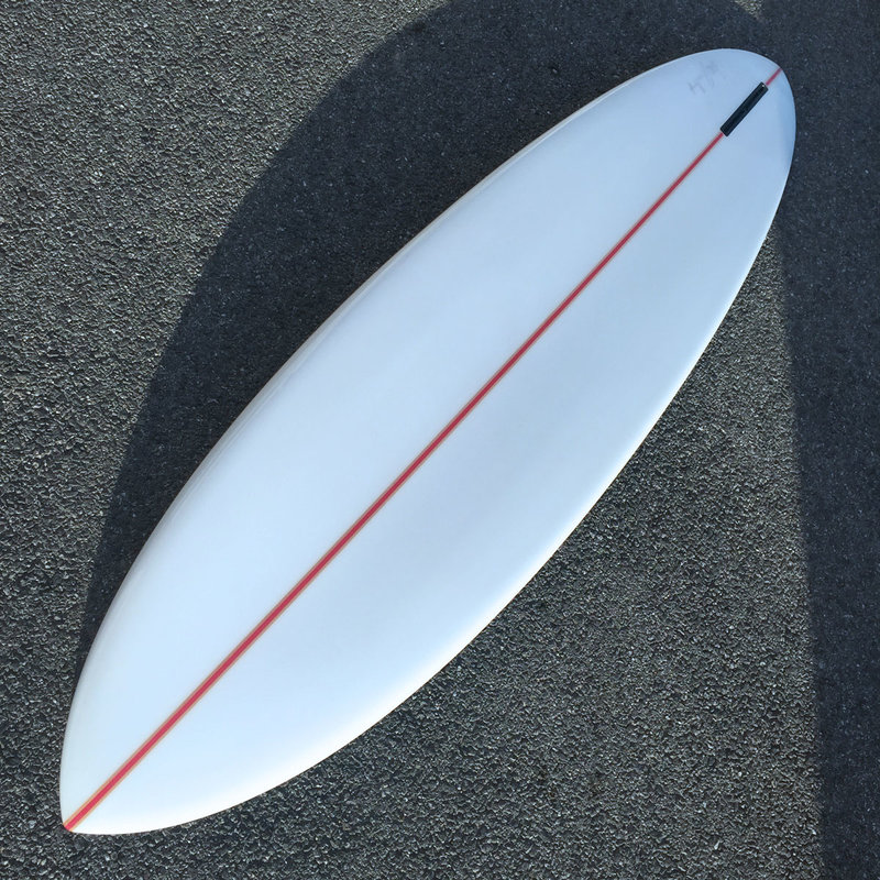 Luc Rolland 7'6 pintail red stringer