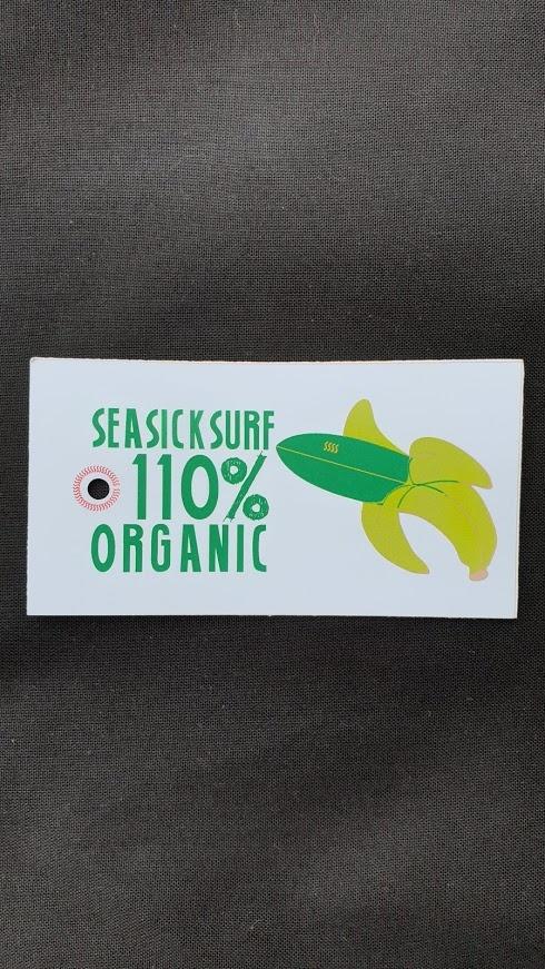 Sea Sick Surf Sea Sick Surf Men´s Organic Tee White Blue Wave Logo