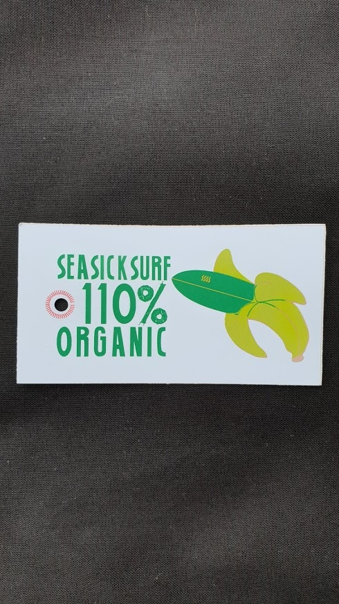 Sea Sick Surf Sea Sick Surf Men´s Organic Tee Stone Yellow Wave