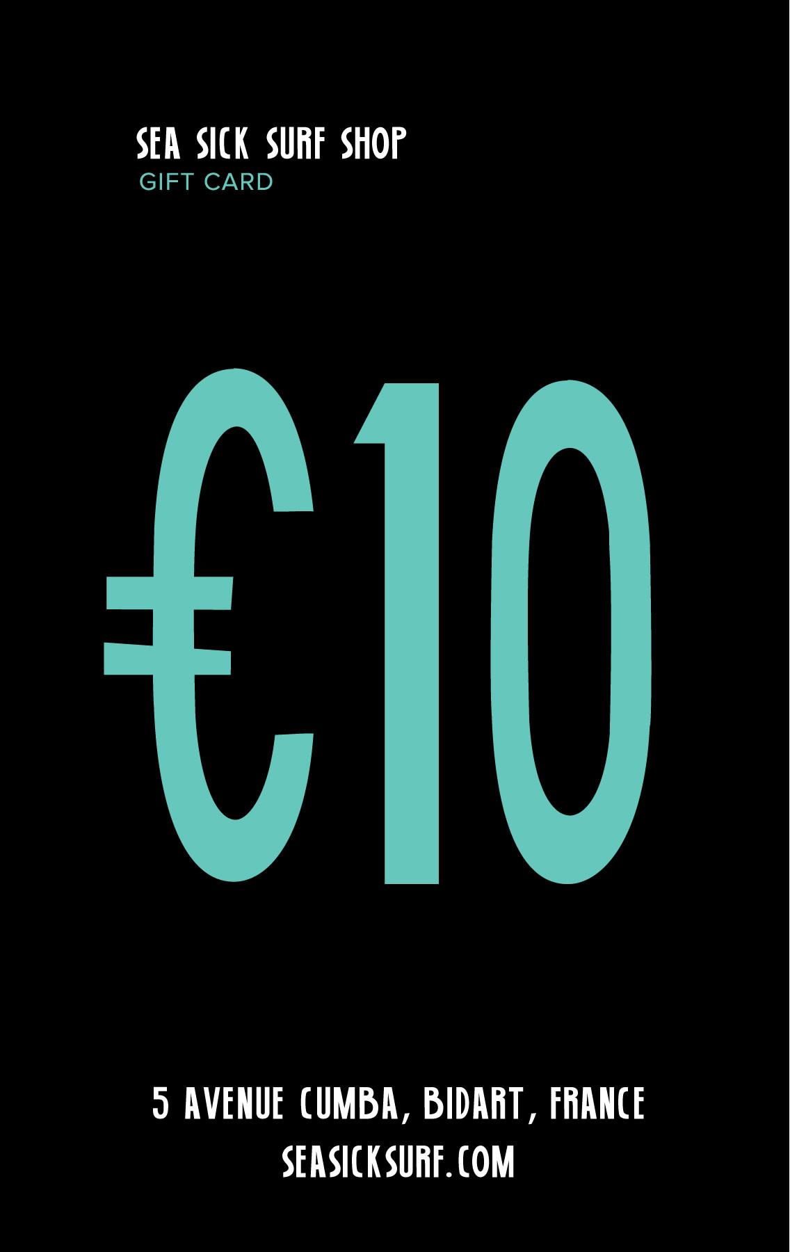 Giftcard 10 EUR